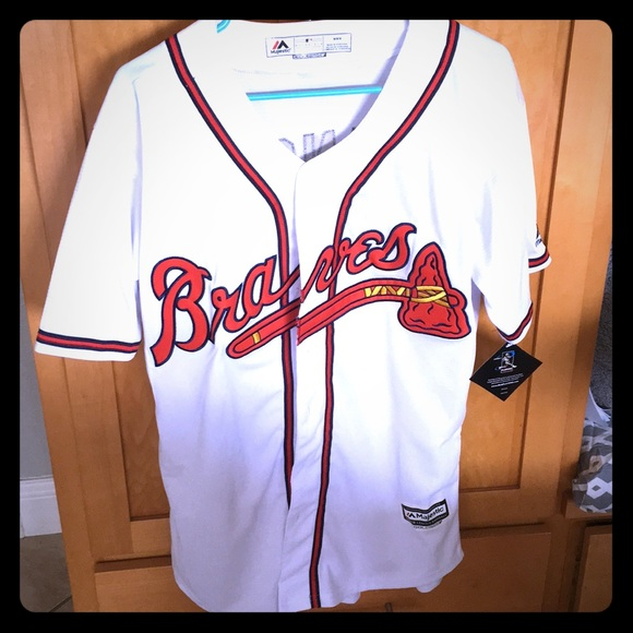 best authentic a5abd a3ea1 Dansby Swanson 7 Braves jersey men's medium NWT